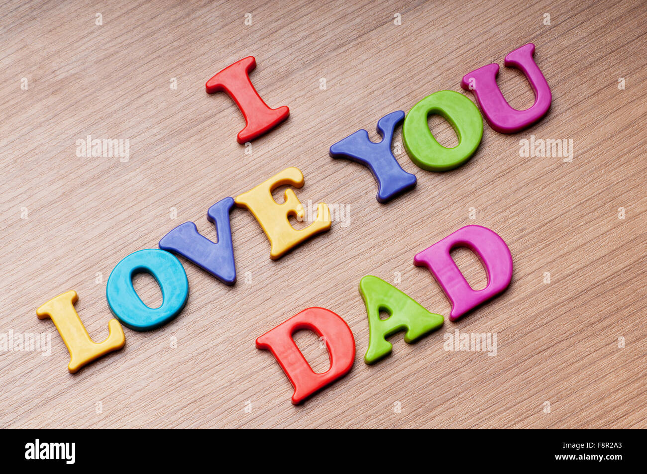 I Love You Dad Words On The Background Stock Photo 91475835 Alamy