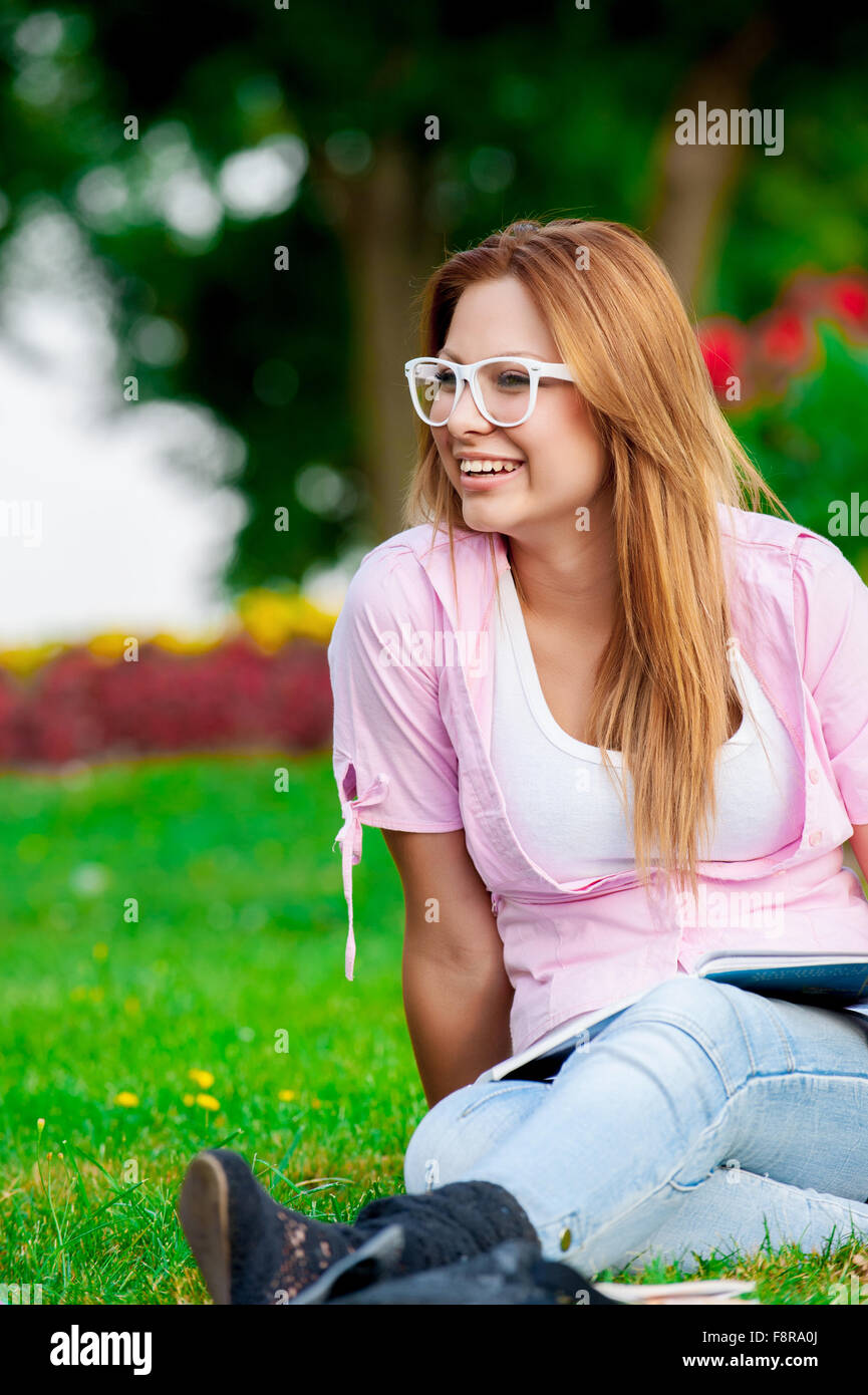 happy young high school student - Stock Image