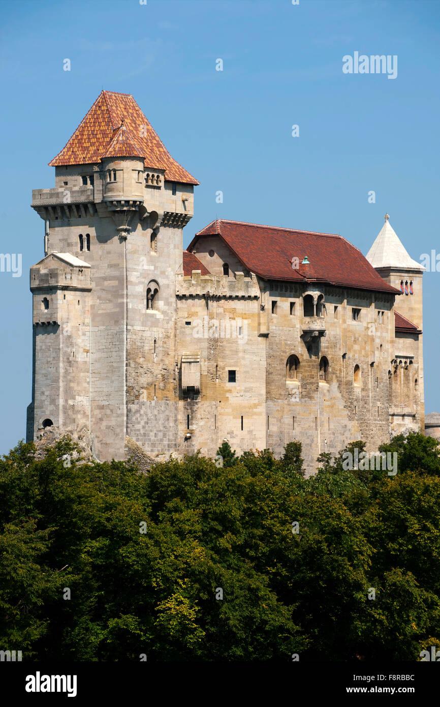 Europa, Österreich, Niederösterreich, Mödling, die Burg Liechtenstein liegt am Rande des Wienerwaldes - Stock Image