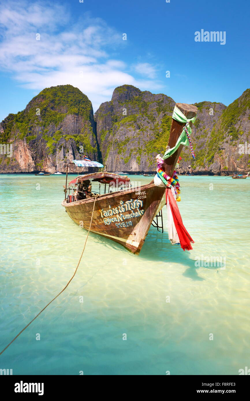 Thailand - Landscape of Maya Bay (close to Phi Phi Island), Asia - Stock Image