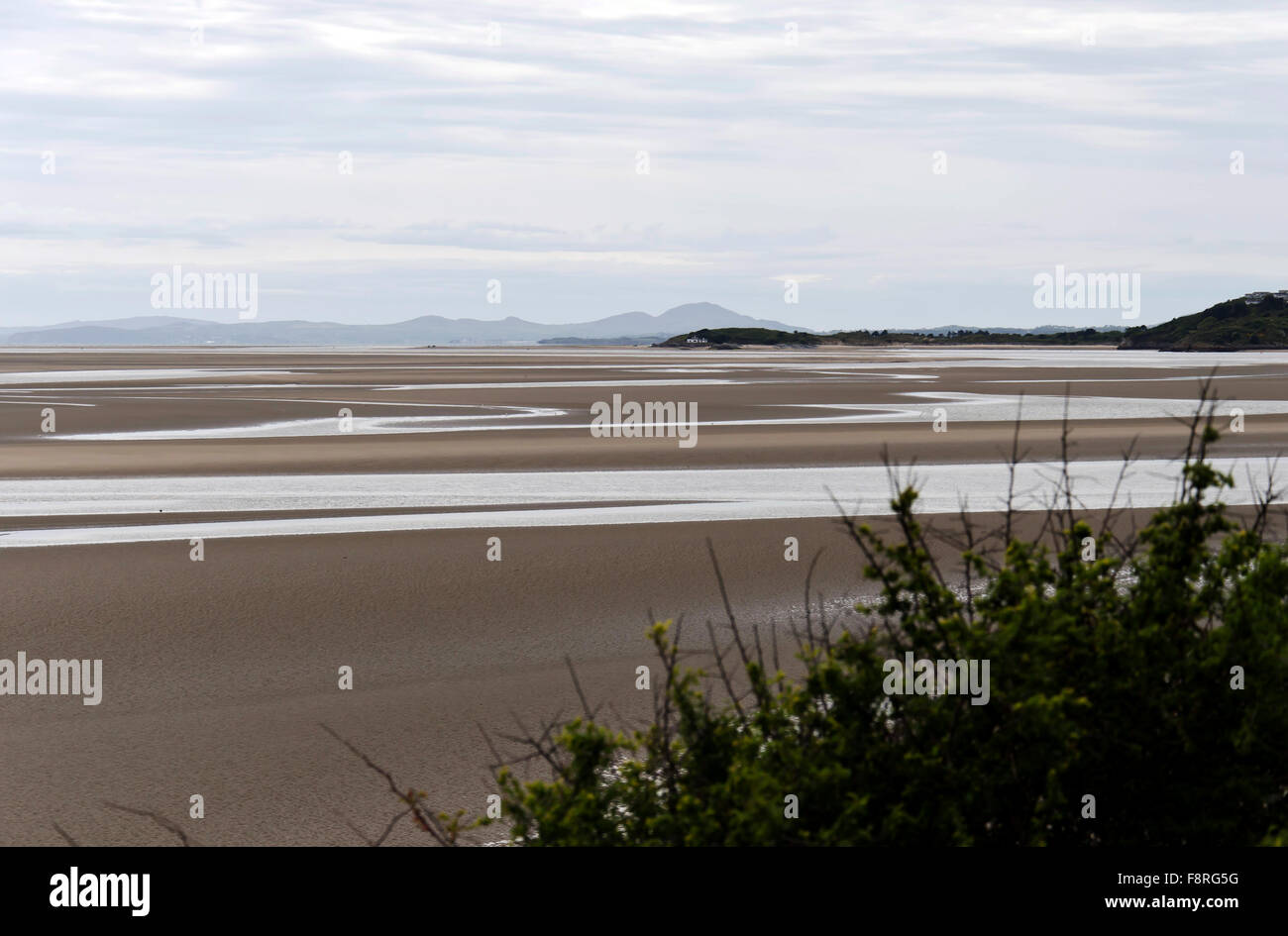 The bay at Portmeirion, the village in North Wales that featured as 'The Village' in 'The 'Prisoner' - Stock Image