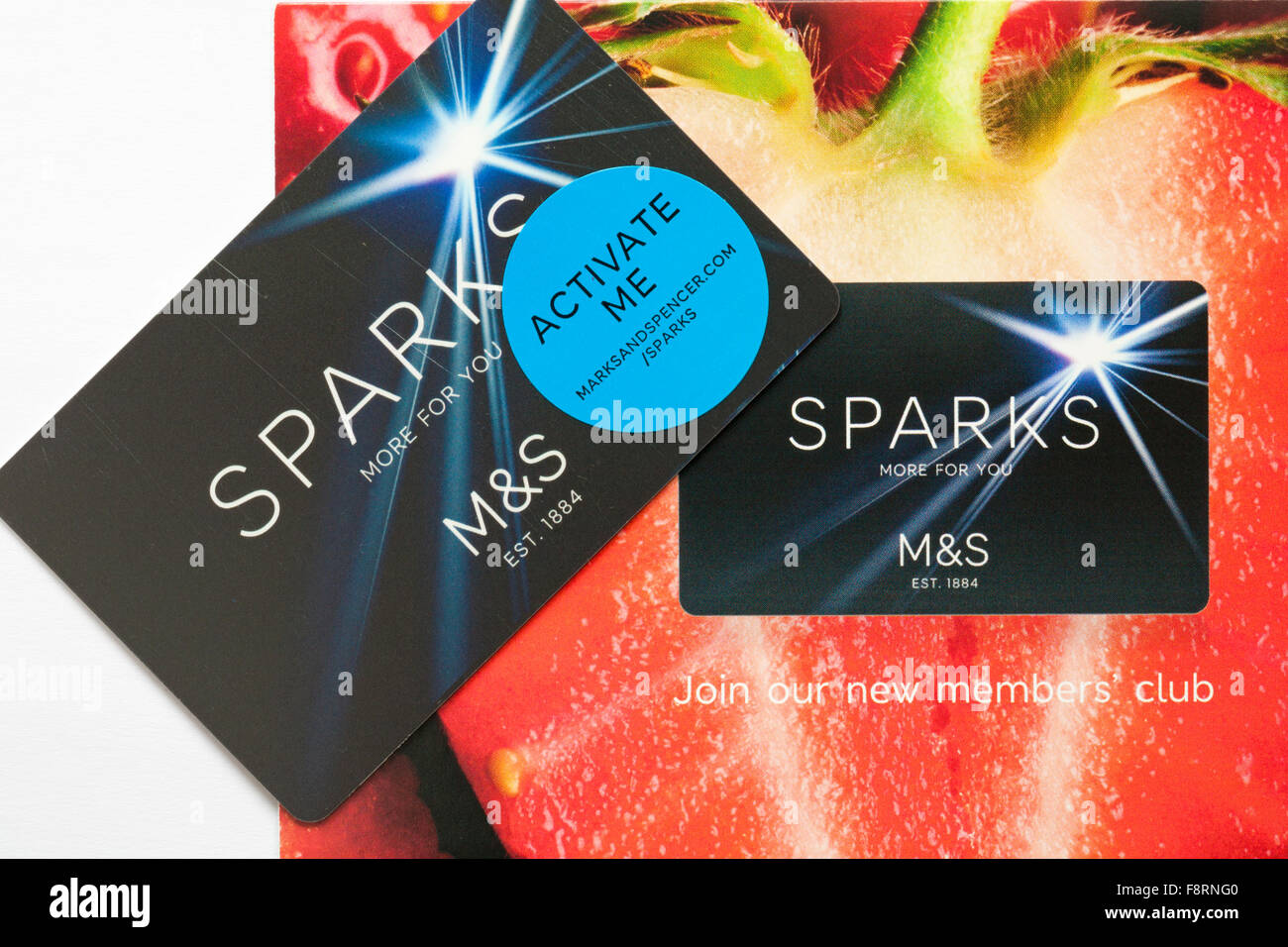 M&S Sparks card more for you - join our members club - Stock Image