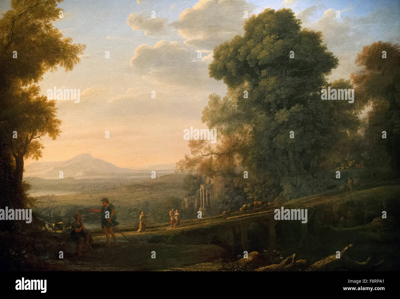 Claude Lorrain (1600-1682). French painter. Landscape with  Rebekah Taking Leave of her Father,  c. 1640. National - Stock Image
