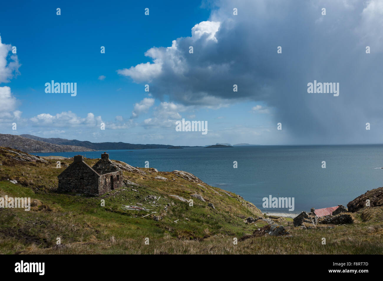 Squall in the Minch seen from Molinginish Stock Photo