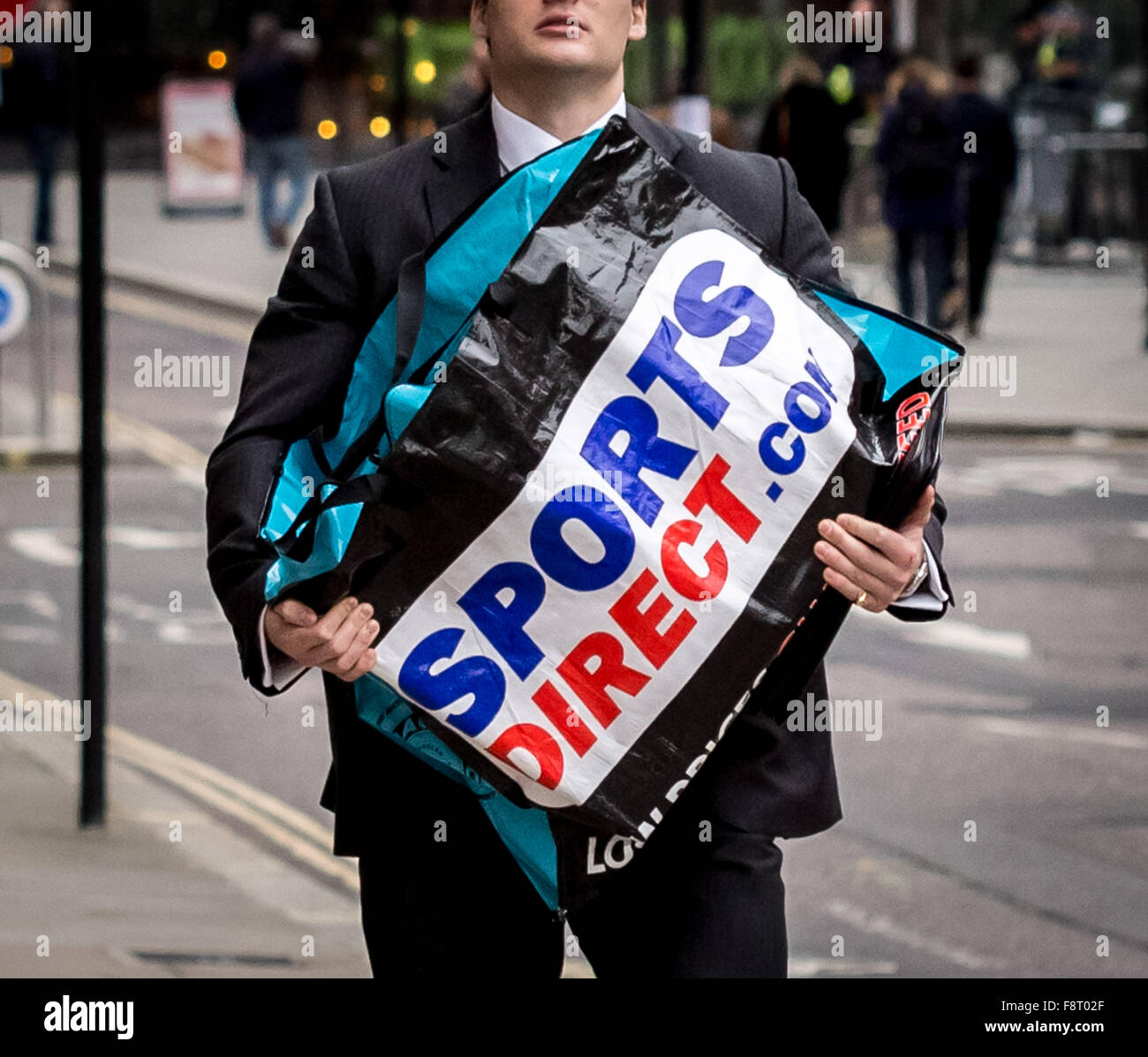 217ae1f06073 Sports Direct bag carried through central London. Sports Direct the UK s  biggest sportswear retailer shares have plunged as sales growth stalls  following ...