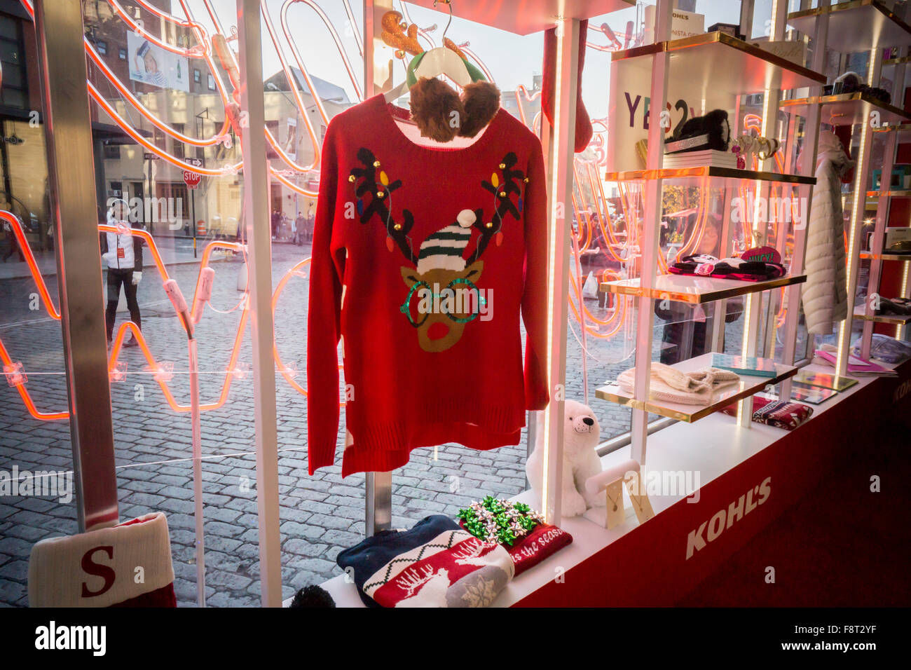 Kohl Ugly Christmas Sweaters.An Ugly Christmas Sweater And Other Merchandise In The