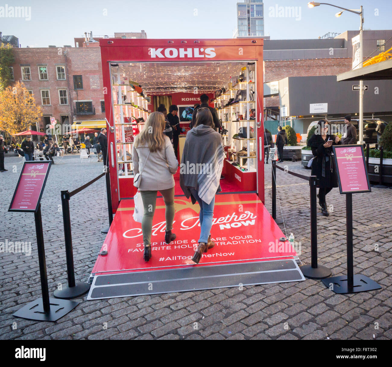 kohl s department store presented its pop up trailer promoting stock