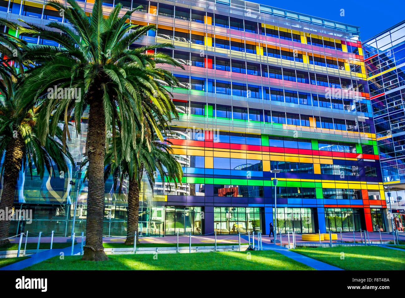 Contemporary architecture, Docklands Melbourne, Australia - Stock Image