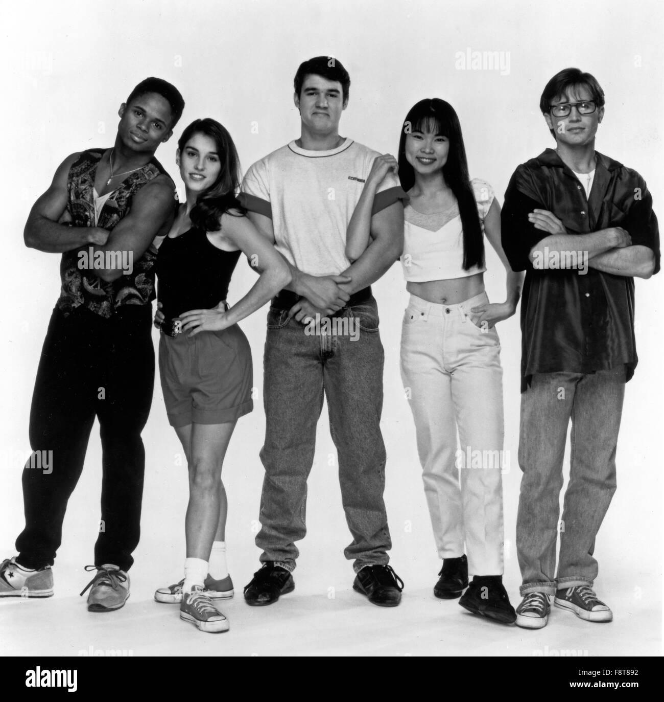 Mighty Morphin Power Rangers, Actionserie, USA 1993-1996, Darsteller: Walter Jones, Amy Jo Johnson, Austin St. John, - Stock Image