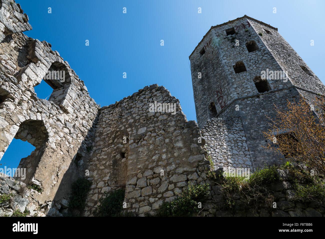 The castle of Pocitelj, Bosnia and Herzegovina Stock Photo