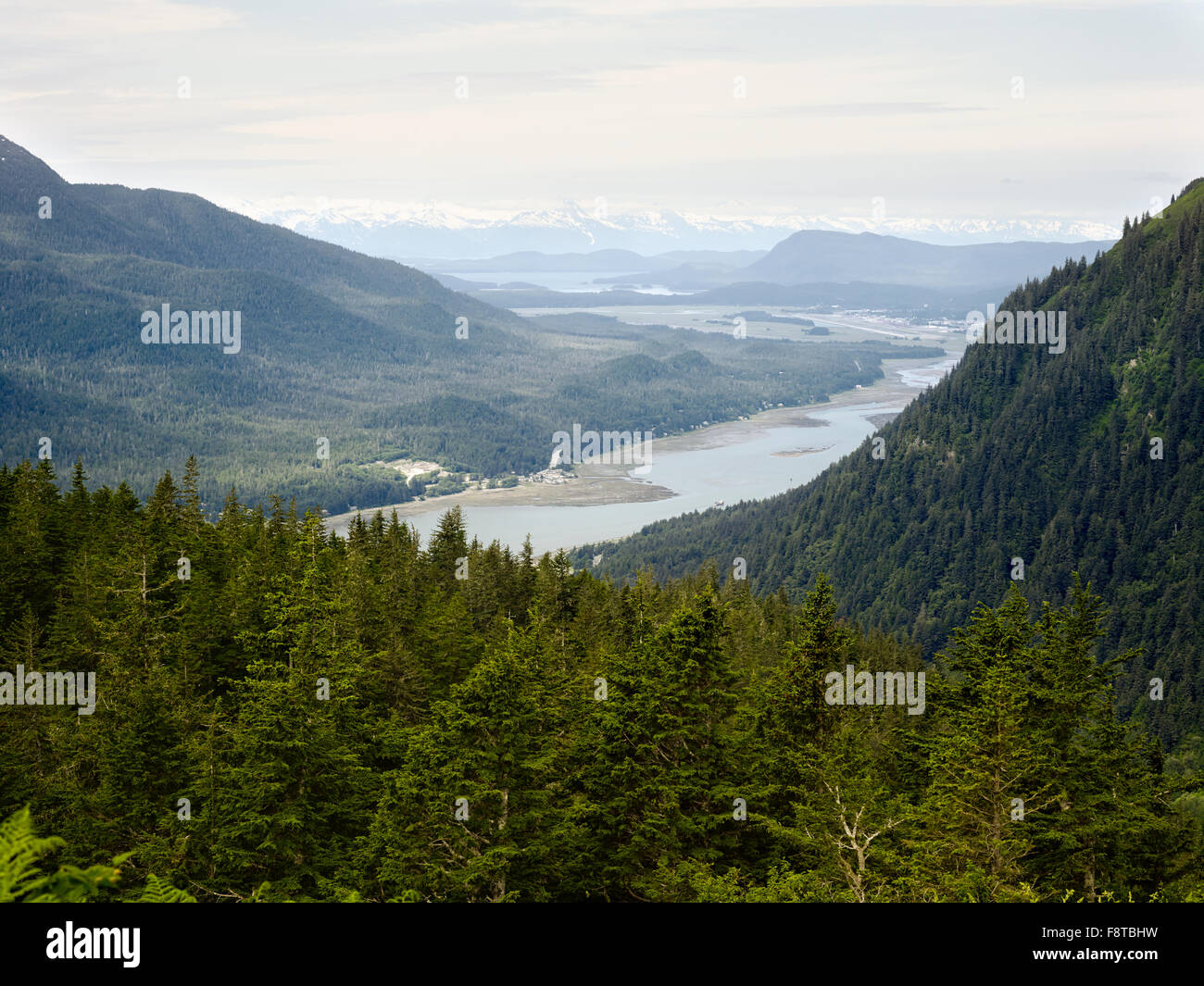 View from Mount Roberts, Juneau, Alaska - Stock Image