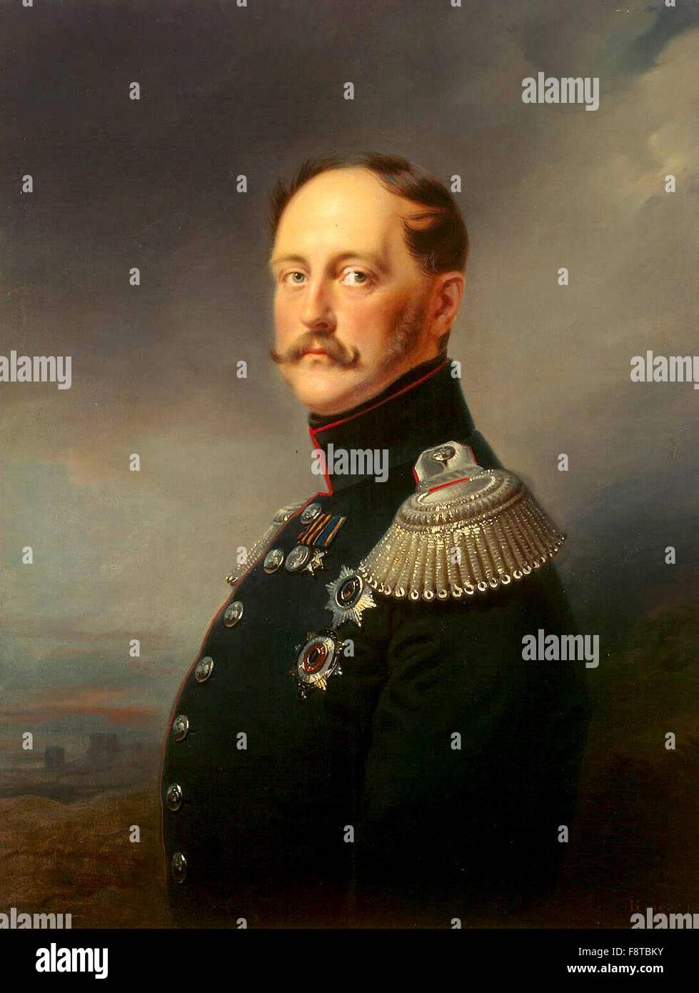 Emperor Nicholas I, Emperor of Russia from 1825 until 1855 - Stock Image