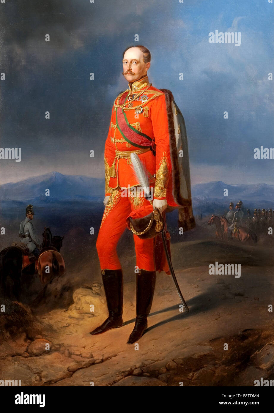Emperor Nicholas I in Austrian Uniform, Nicholas I, Nikolai I Pavlovich, Emperor of Russia from 1825 until 1855. - Stock Image