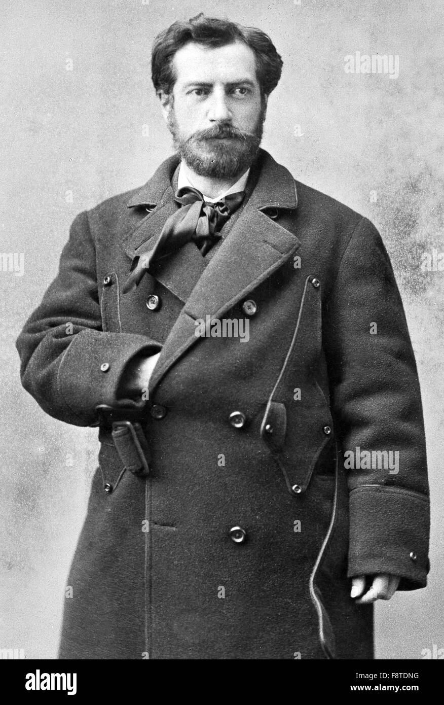 Frédéric Auguste Bartholdi, French sculptor and painter who designed the Statue of Liberty - Stock Image