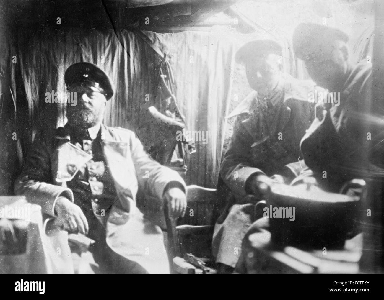 German Artillery Chief before Verdun, France, World War One - Stock Image