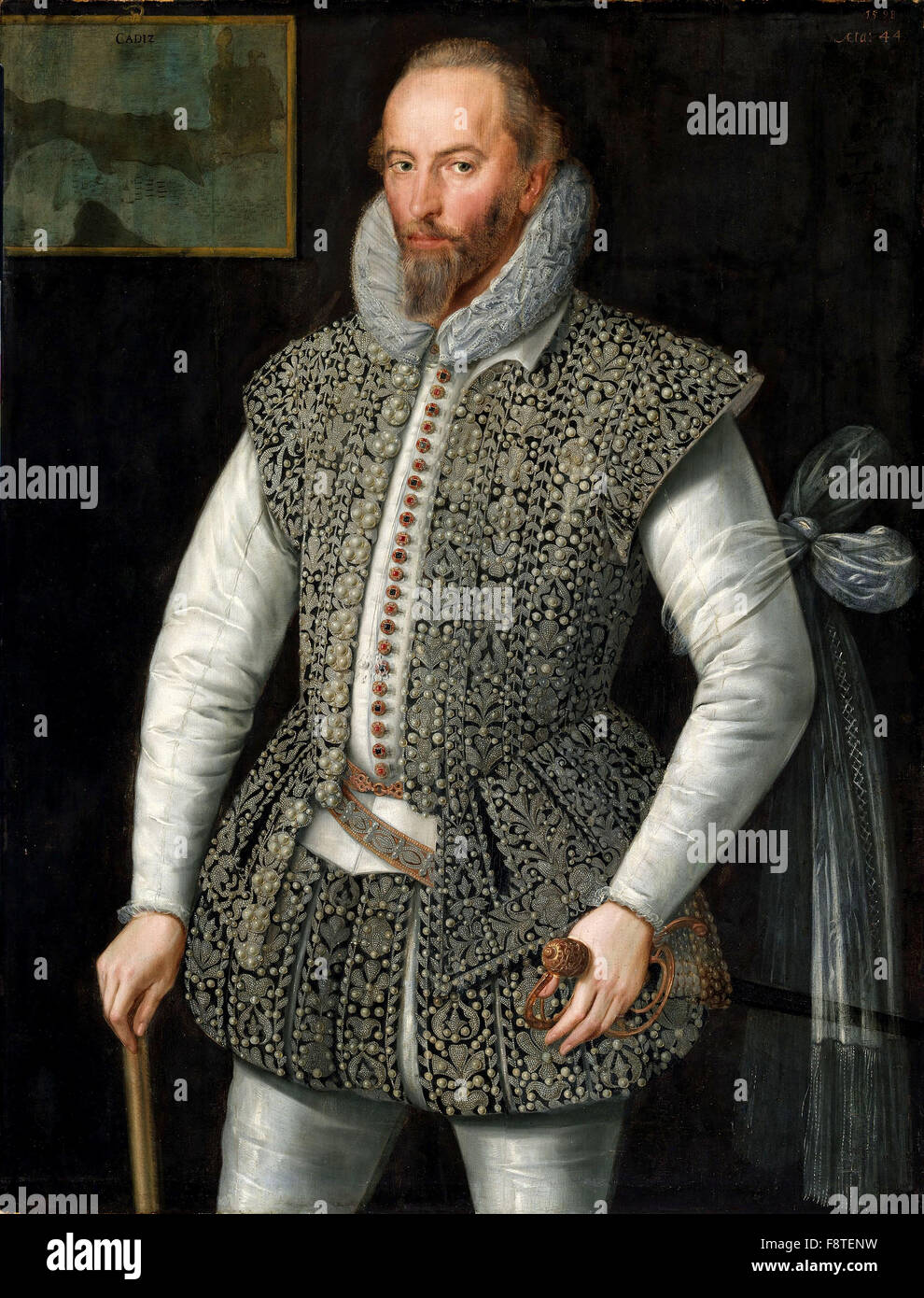 Sir Walter Raleigh, explorer - Stock Image