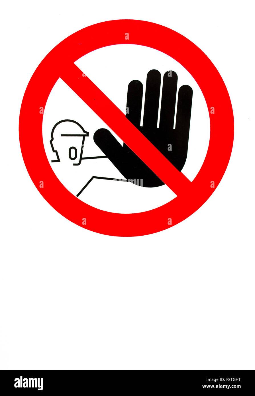 No pass sign - Stock Image