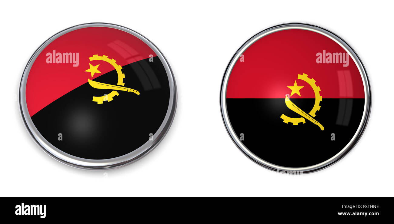 Banner Button Angola - Stock Image