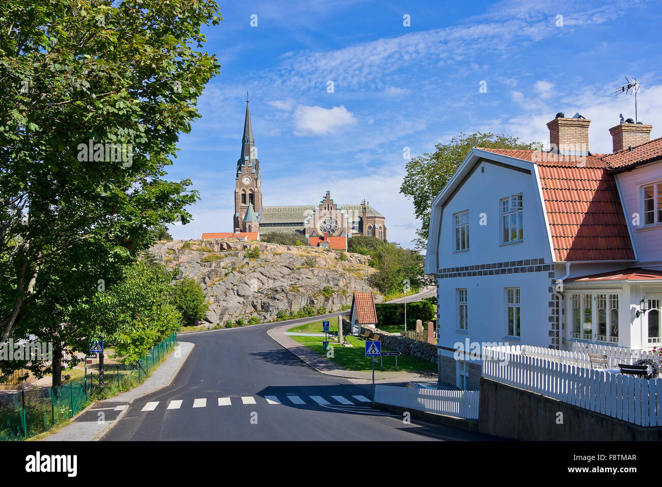 CHURCH OF LYSEKIL, BOHUSLAN, SWEDEN. - Stock Image