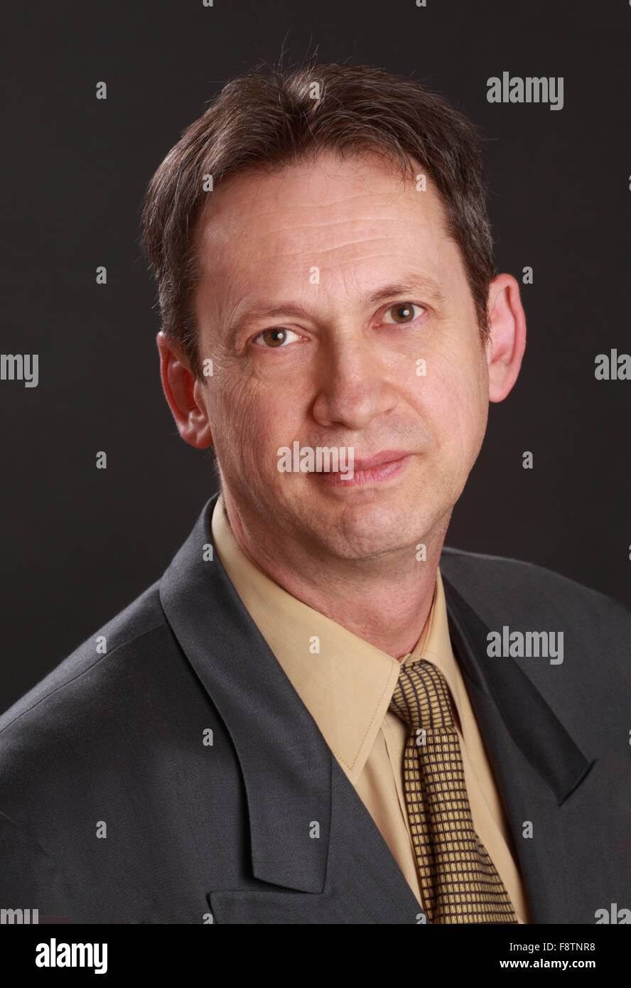 middle-aged businessman Stock Photo