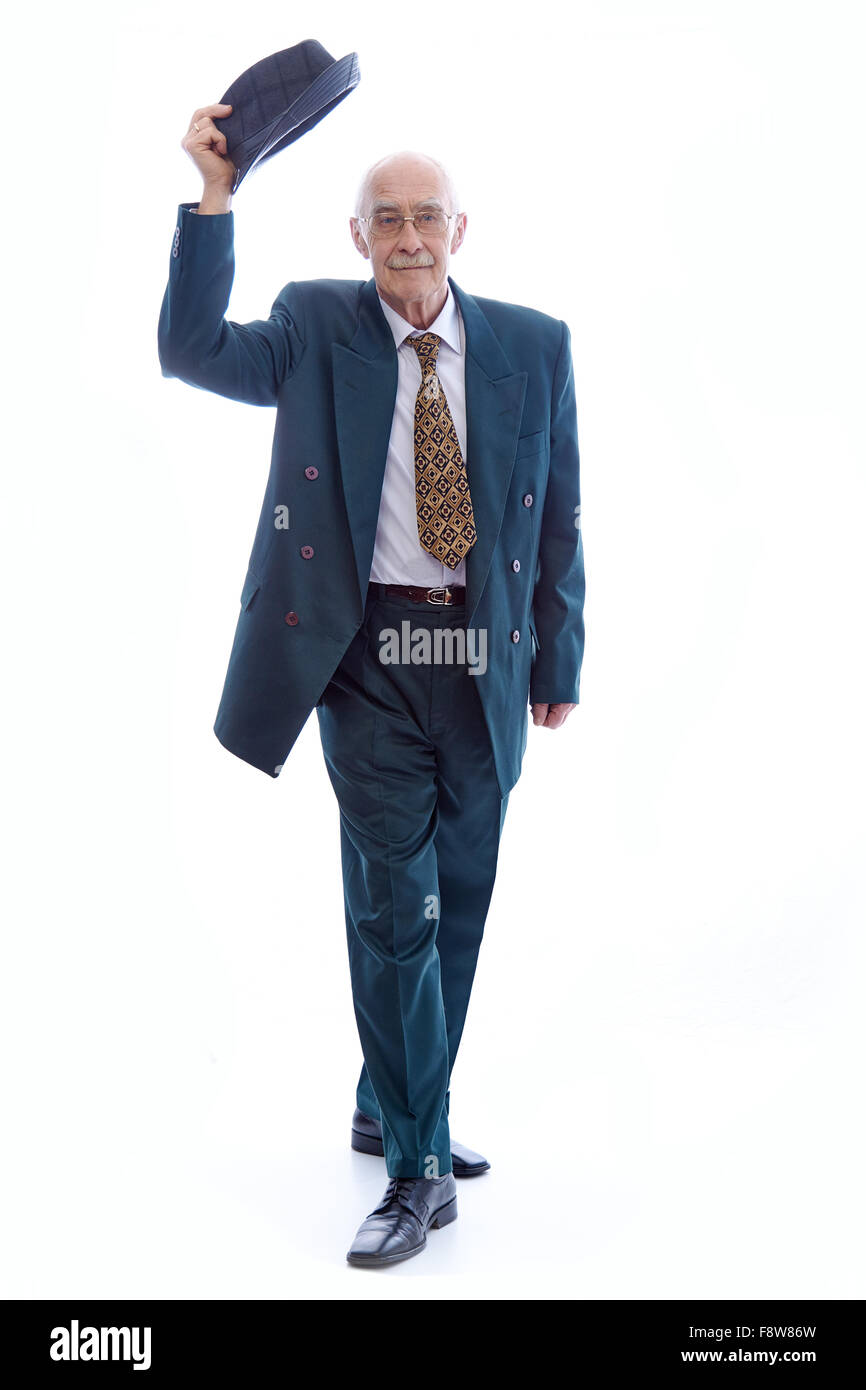 Man wearing  a suit. - Stock Image