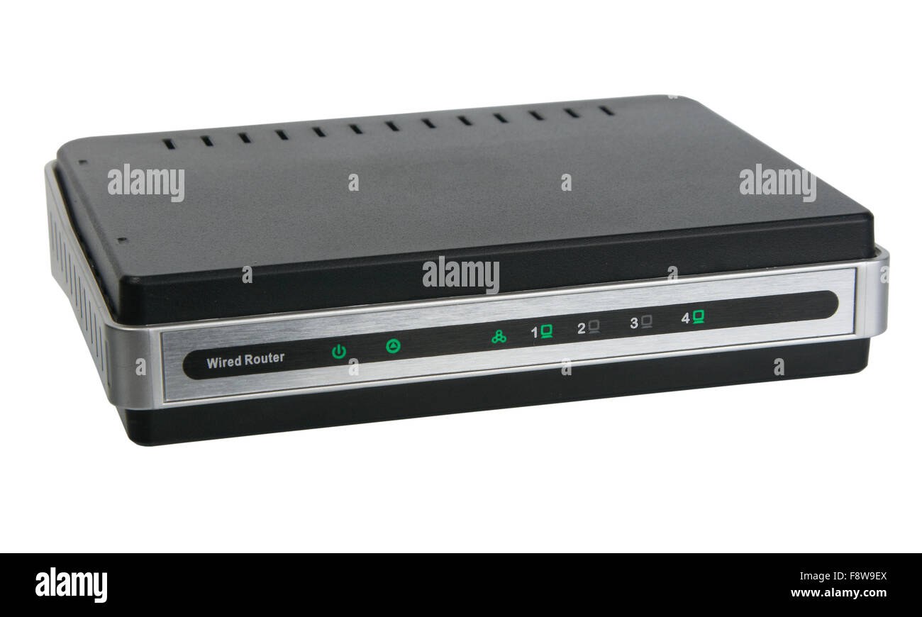 Front view of network wired router Stock Photo: 91525362 - Alamy