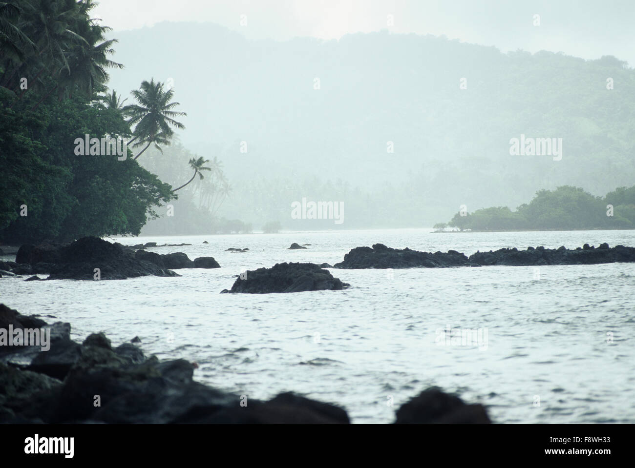 Fiji Islands, Viti Levu, Savusavu Bay scenic - Stock Image
