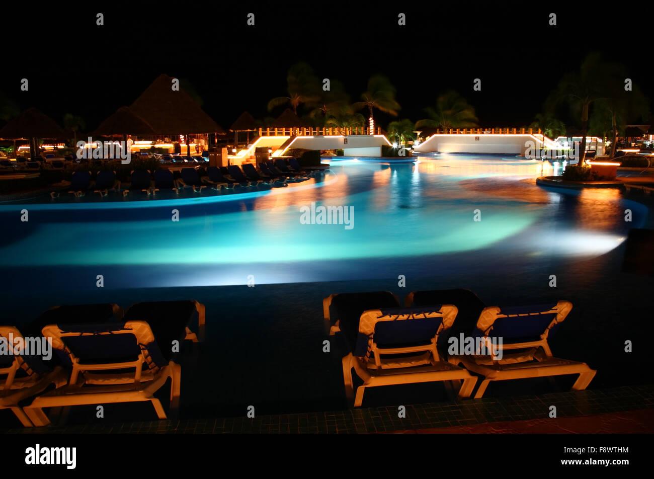Tropical Resort Night Vacation Stock Photos Tropical