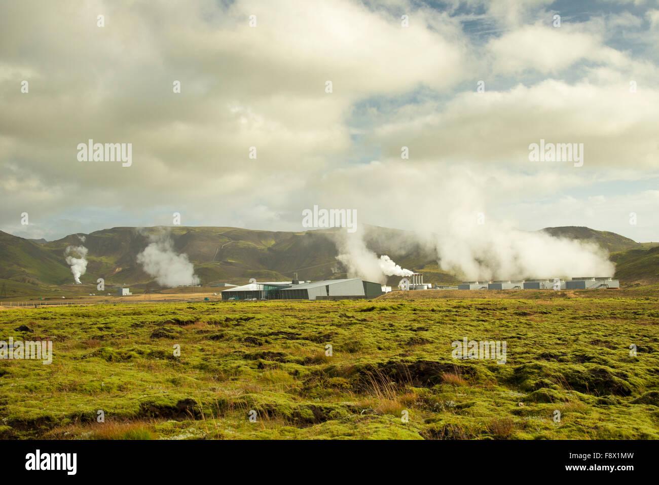 Reykjavik, Iceland. Geothermal power plant. - Stock Image
