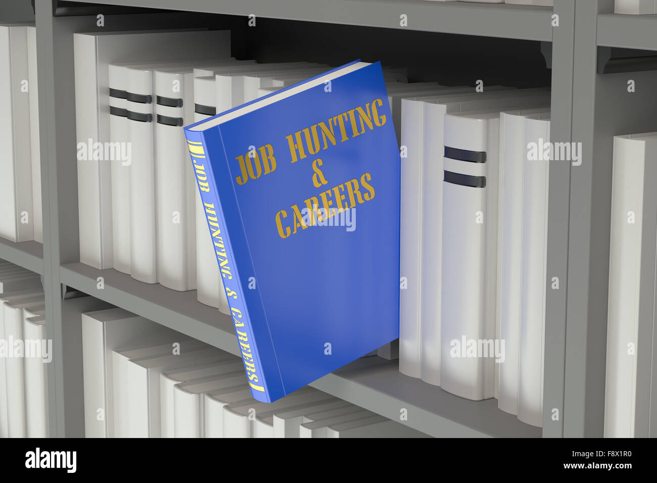 job hunting and careers concept on the bookshelf - Stock Image