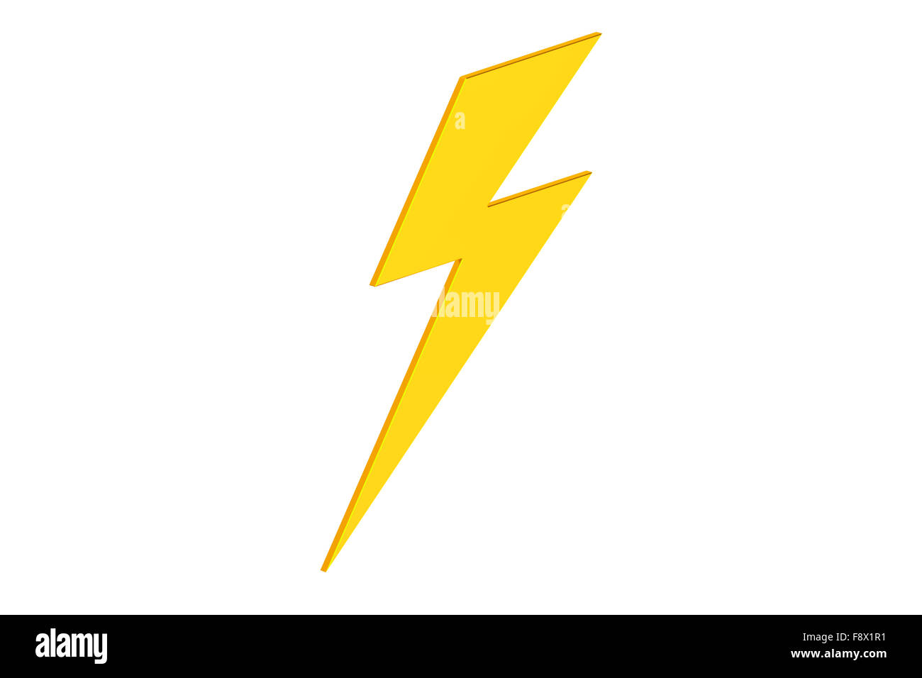 Lightning Bolt Icon On Yellow High Resolution Stock Photography And Images Alamy