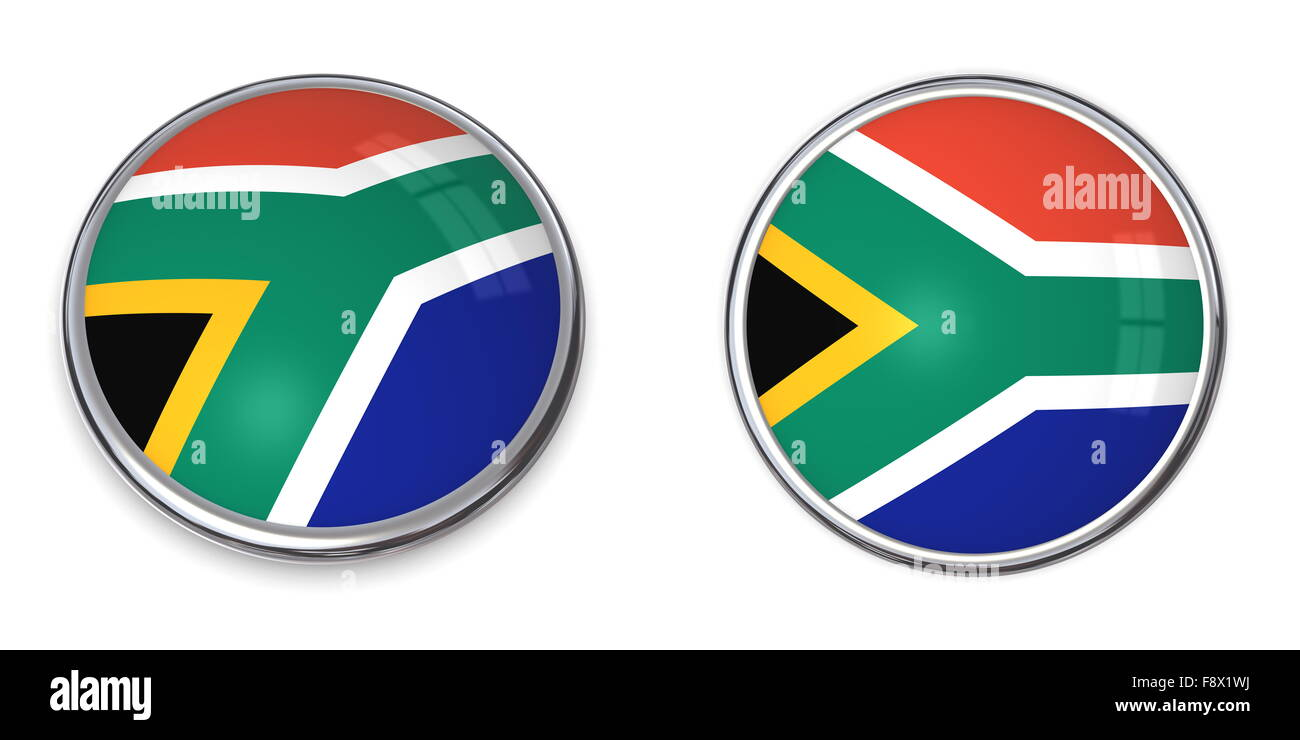 Banner Button South Africa - Stock Image