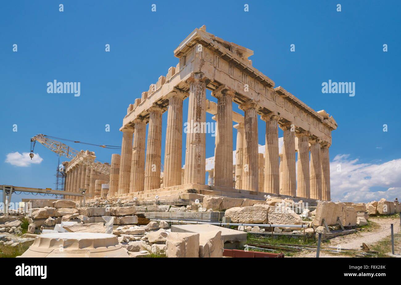 Athens - Acropolis, Parthenon Temple, Greece - Stock Image