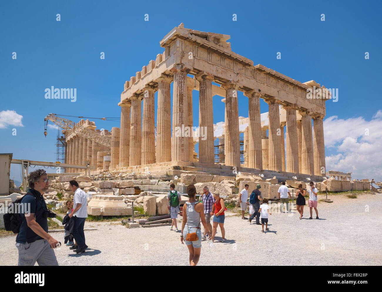 Acropolis of Athens - Parthenon Temple, Athens, Greece, UNESCO - Stock Image