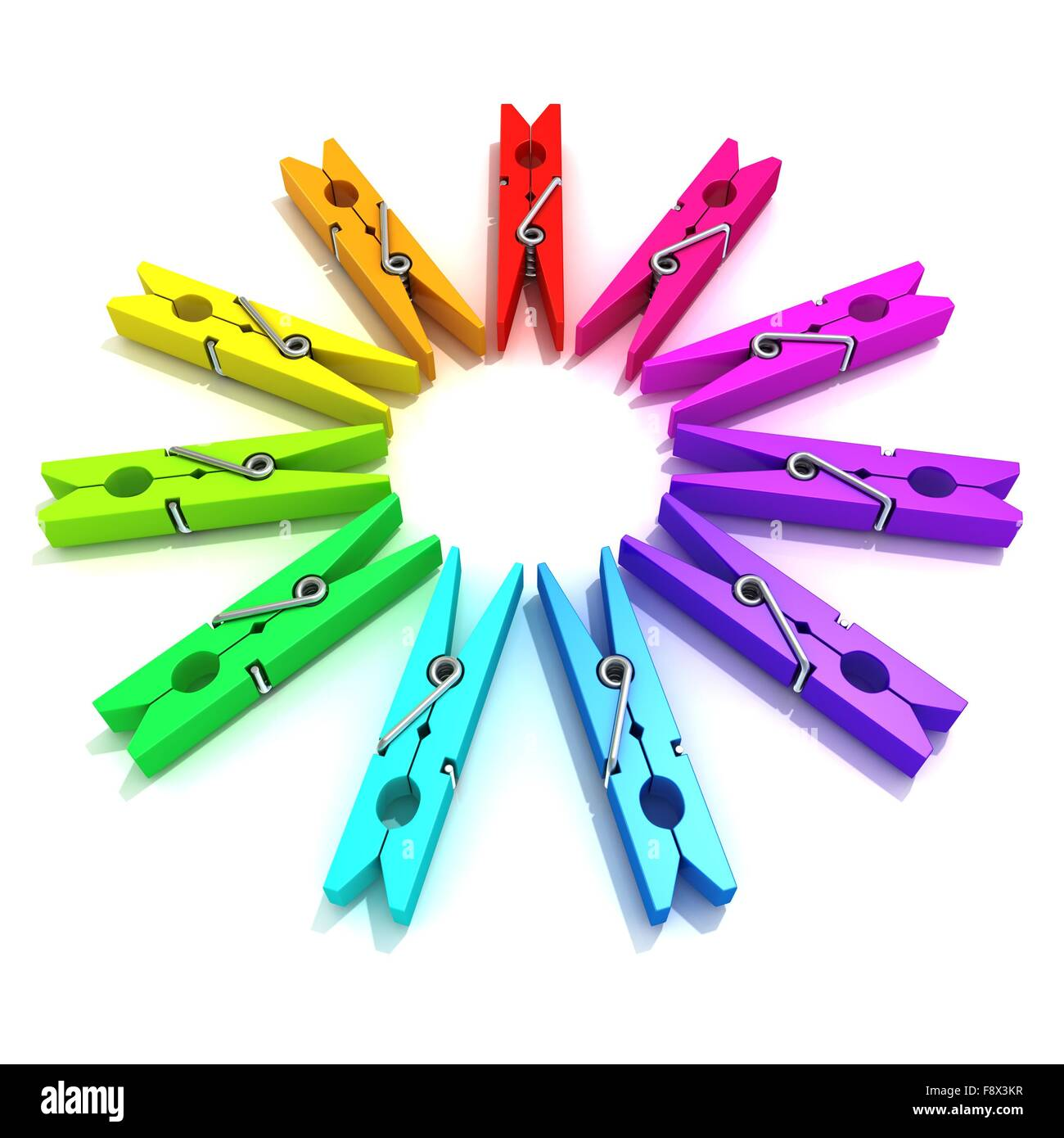 Clothes Pins Color Wheel Stock Photo 91542747 Alamy