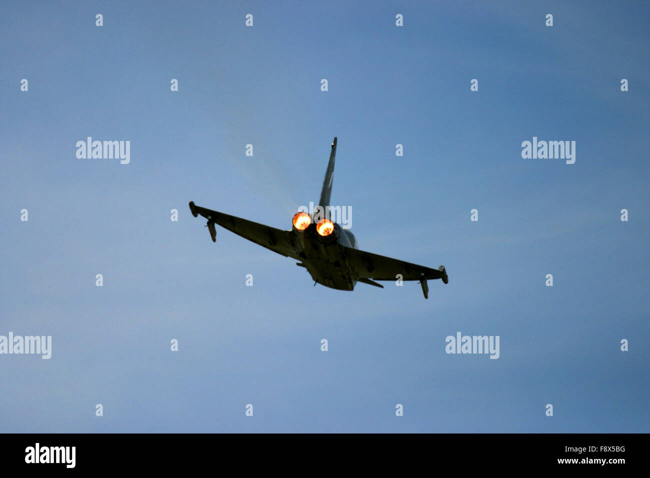 Eurofighter in flight at UK air show Stock Photo