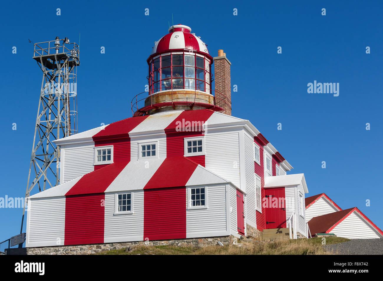 The historic Cape Bonavista Lighthouse in Newfoundland, Canada - Stock Image