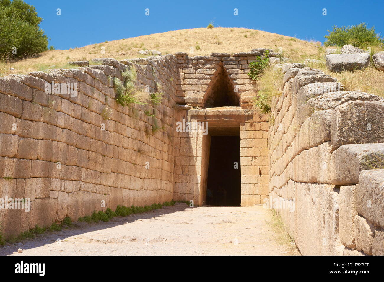 The Treasury of Atreus at the Archaeological Sites of Mycenae (The Tomb of Agamemnon), Greece - Stock Image