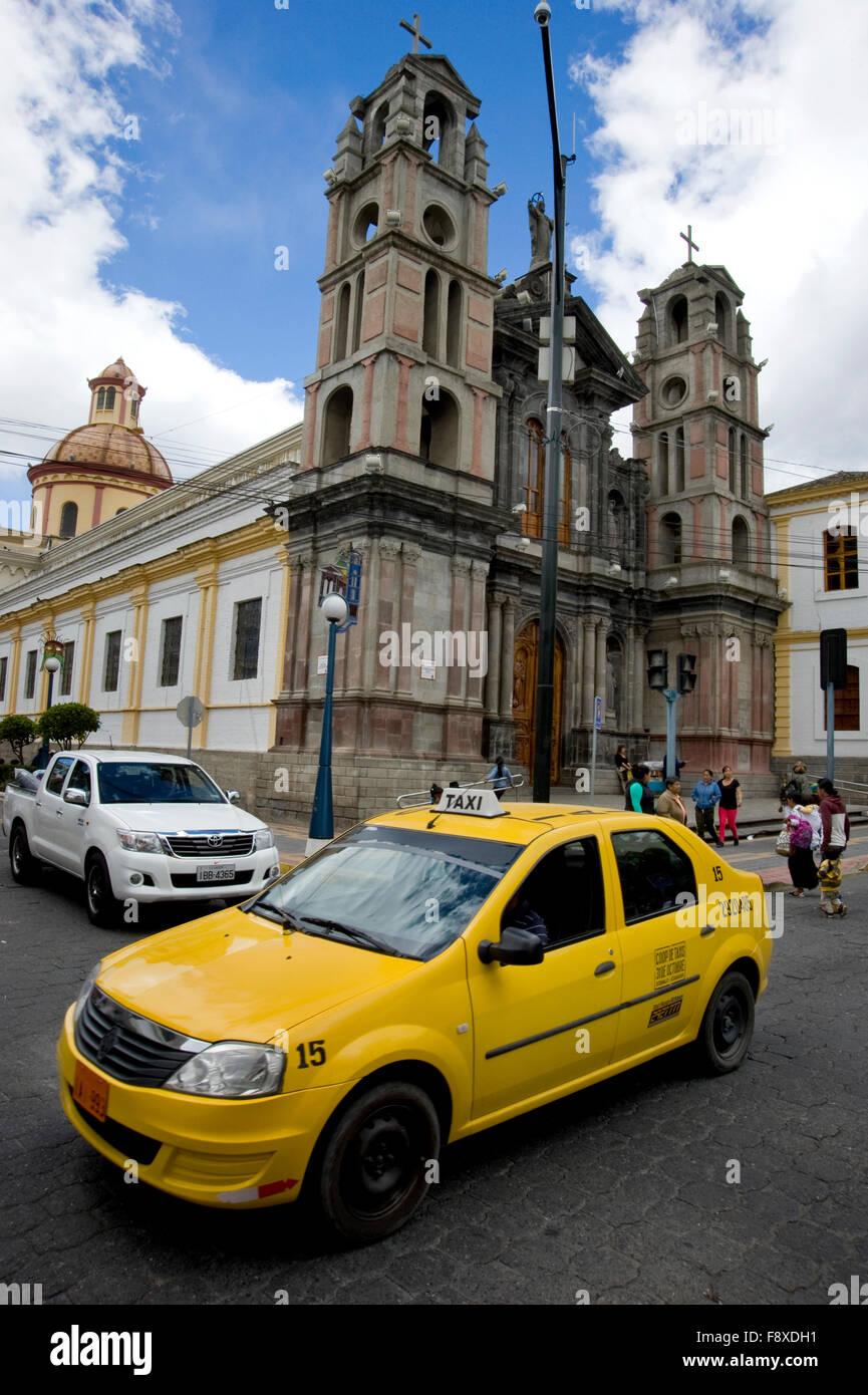 Church in Otavalo, Ecuador - Stock Image