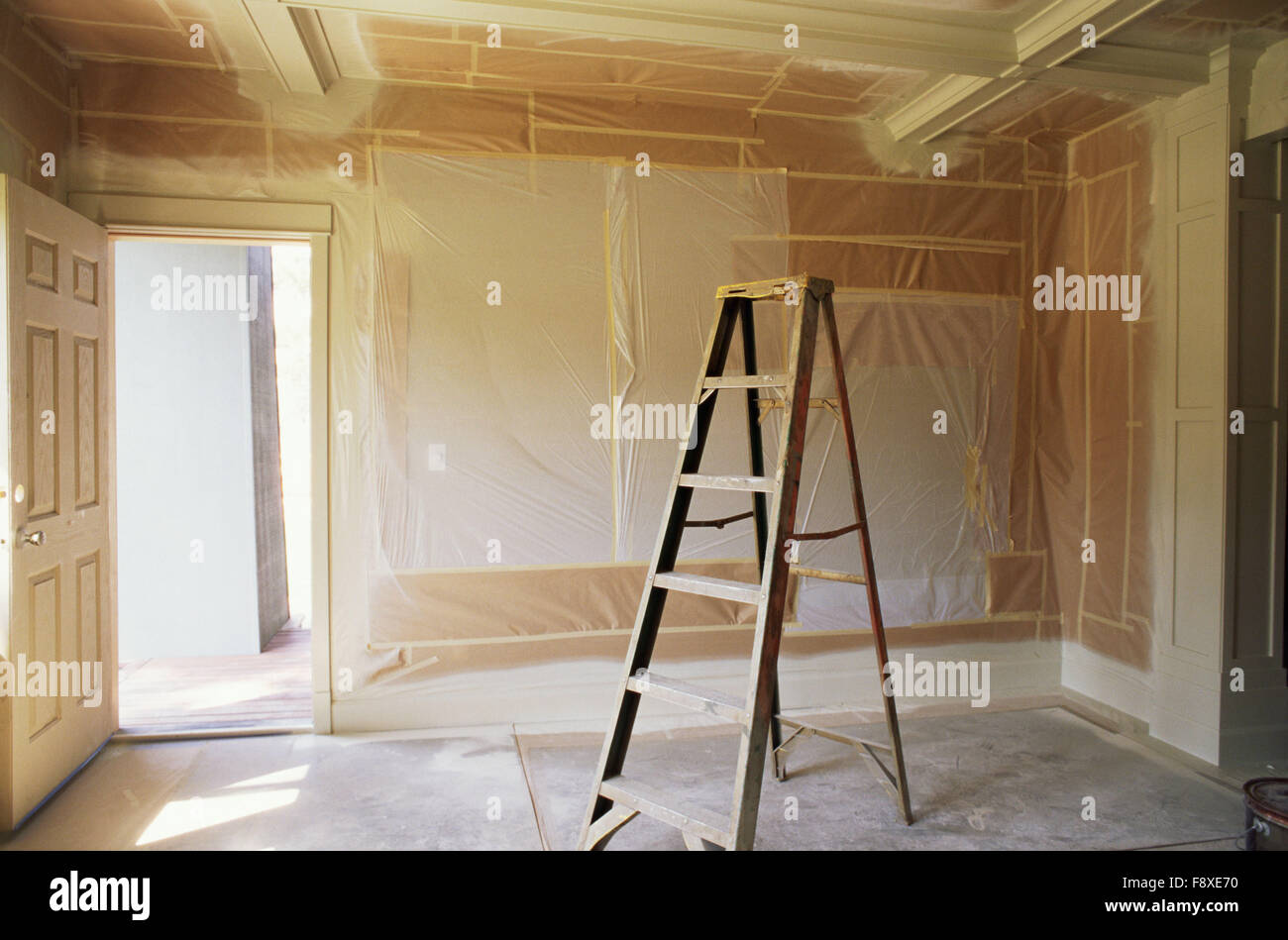 Interior Room Being Painted Stock Photo