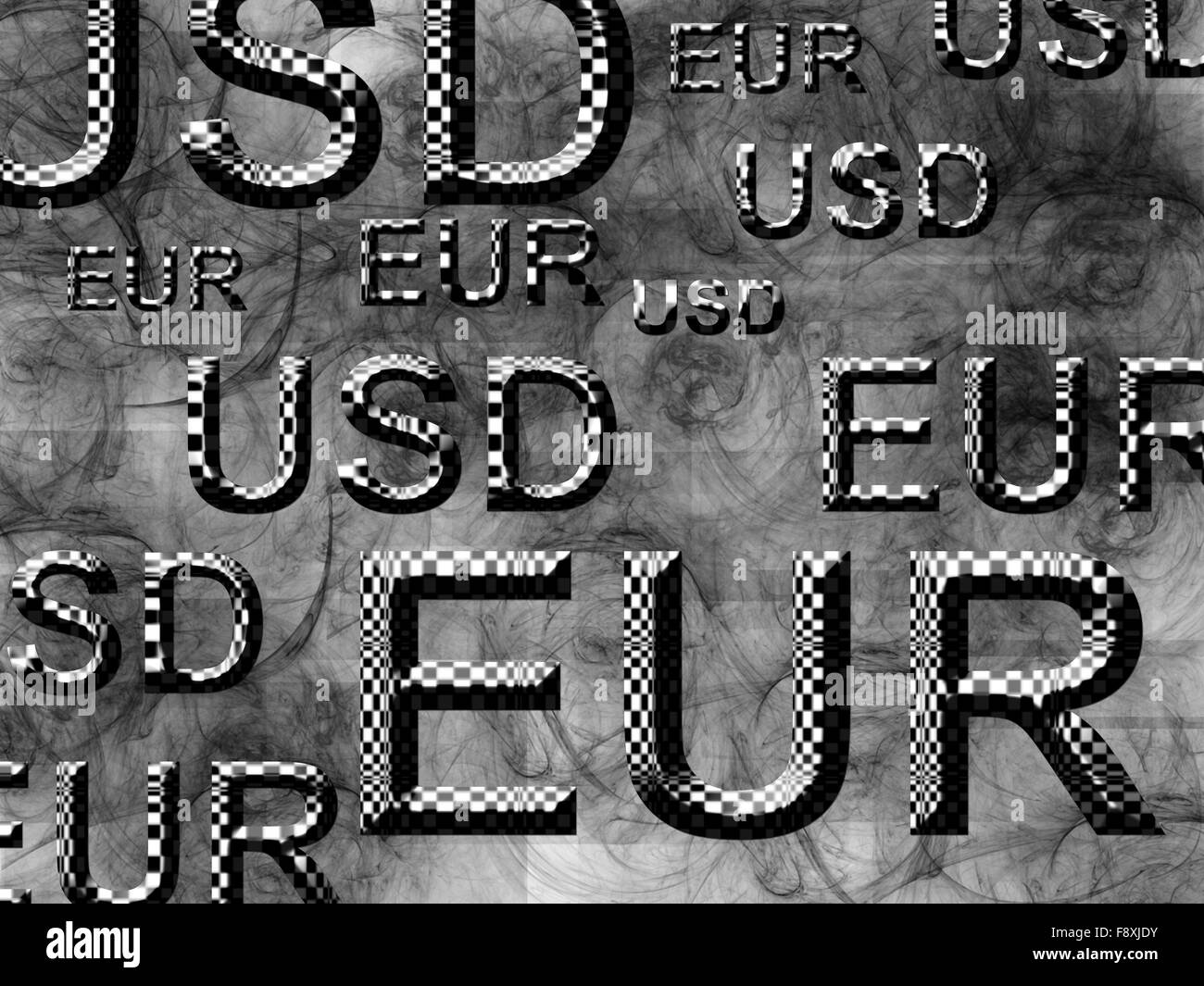 eur usd - Stock Image