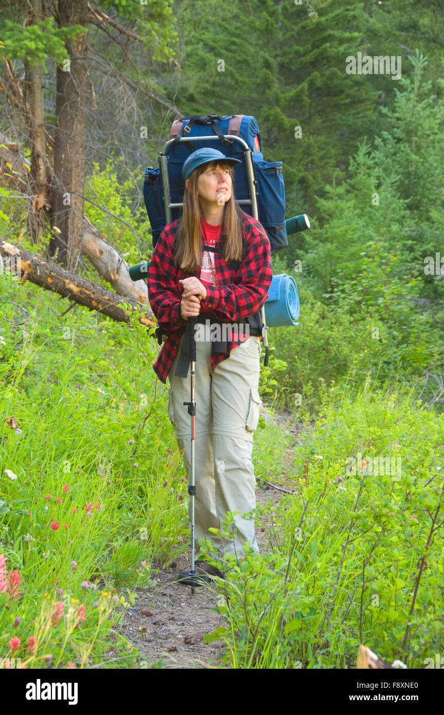 Wilderness Backpacker Backpacking Stock Photos & Wilderness