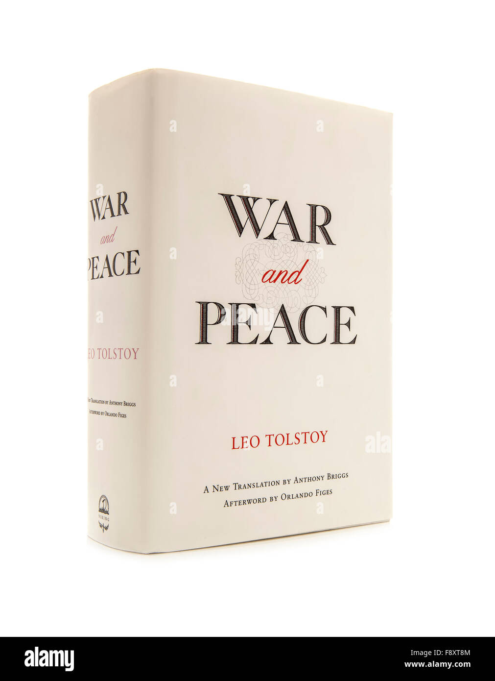 War & Peace by Leo Tolstoy - Translation by Anthony Briggs on a white background - Stock Image