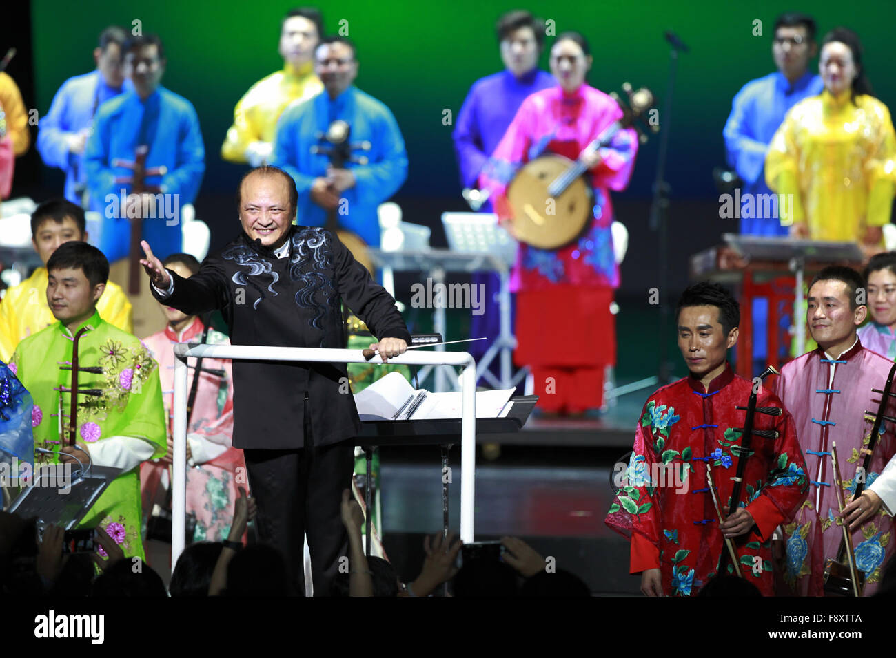 Washington, DC, USA. 11th Dec, 2015. Artists of China National Orchestra perform for American audience at the Kennedy Stock Photo