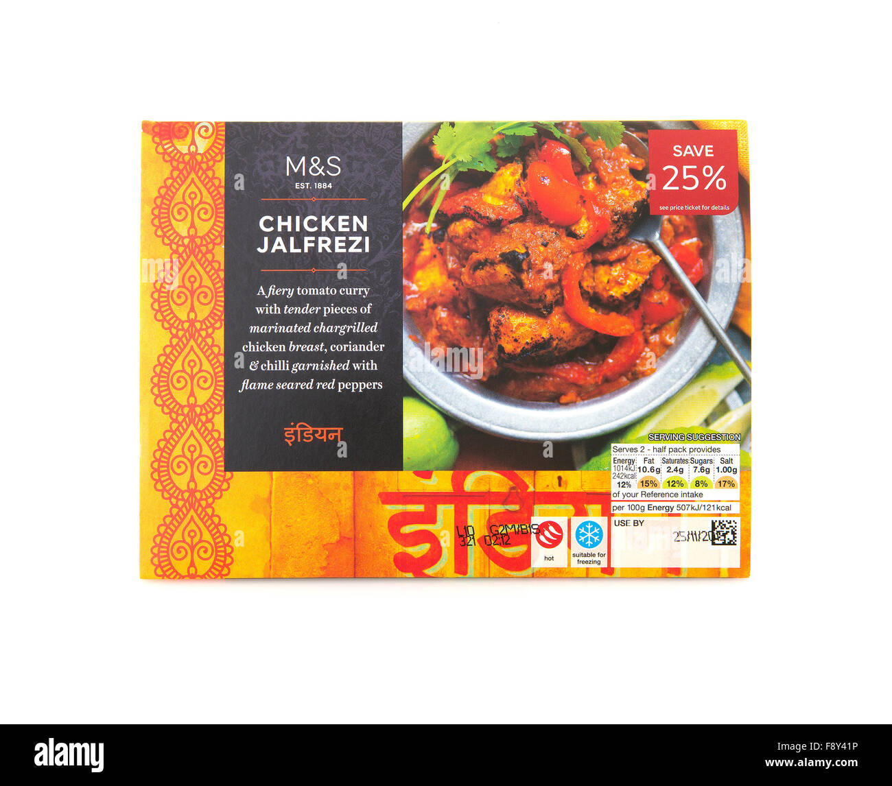 Marks and spencer chicken jalfrezi curry indian take away curry on marks and spencer chicken jalfrezi curry indian take away curry on a white background forumfinder Choice Image