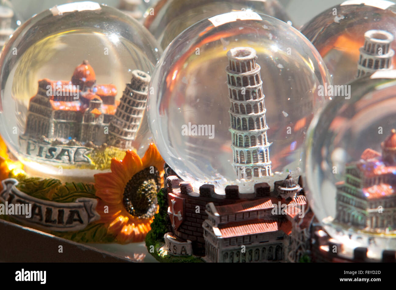 Italy, Tuscany, Pisa, Souvenirs of the Leaning Tower - Stock Image