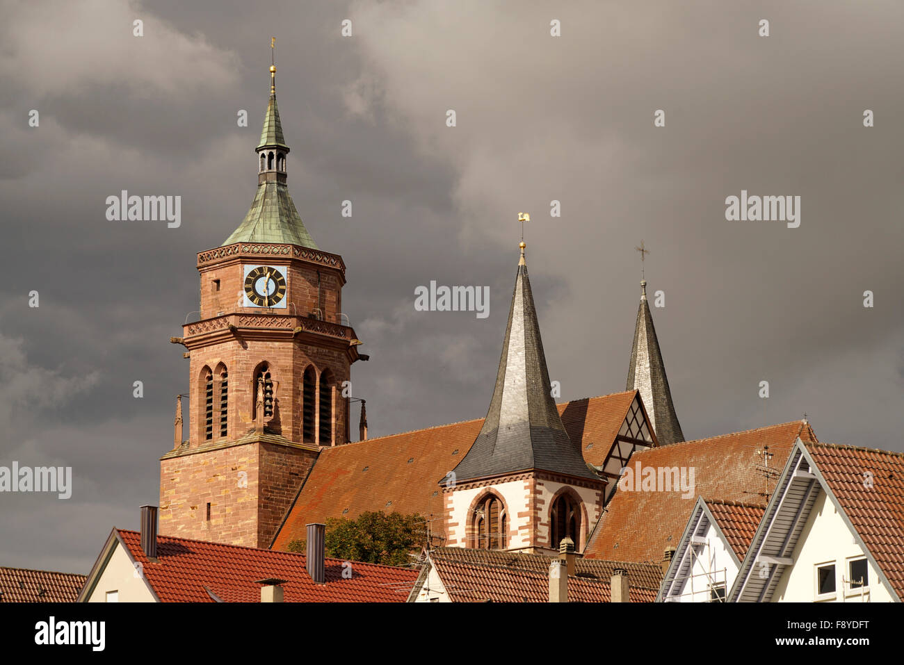 City Church St. Peter and Paul in Weil der Stadt, Boeblingen, Baden-Wuerttemberg, Germany - Stock Image