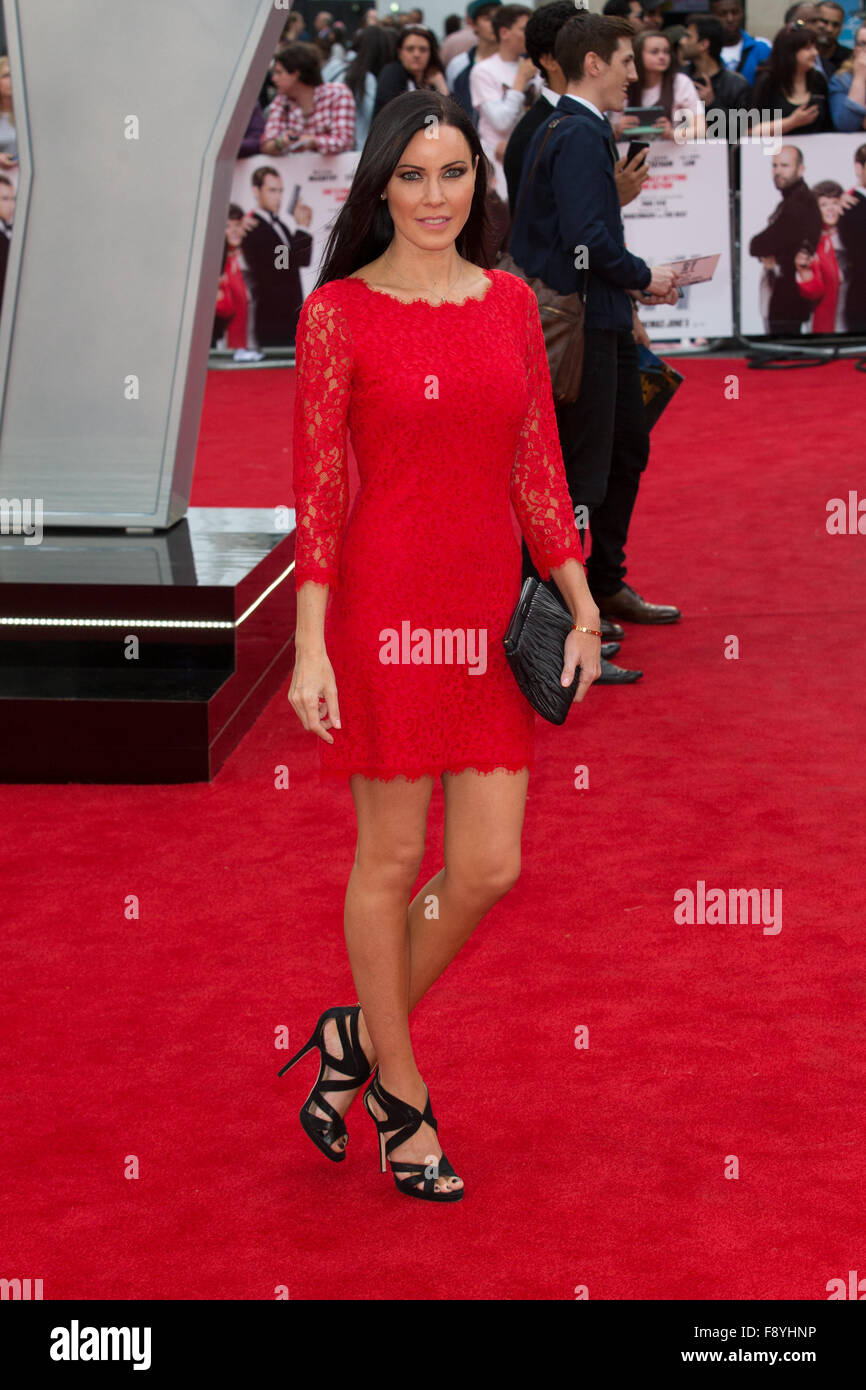 Linzi Stoppard attends the European Premiere of 'Spy' held at the Odeon Leicester Square - Stock Image