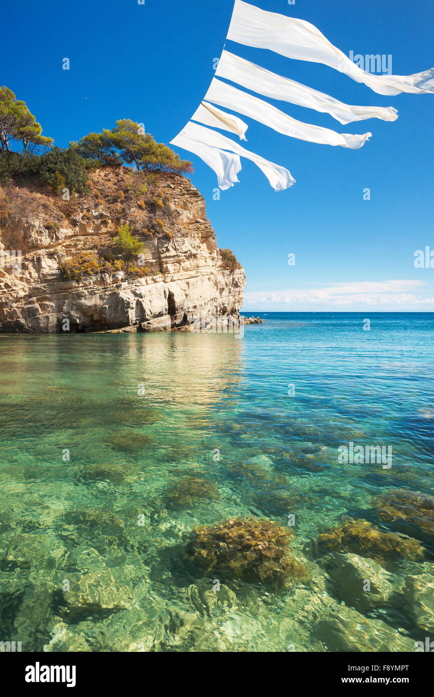 Greece - Zakynthos Island, Ionian Sea, Agios Sostis Island, Laganas Stock Photo