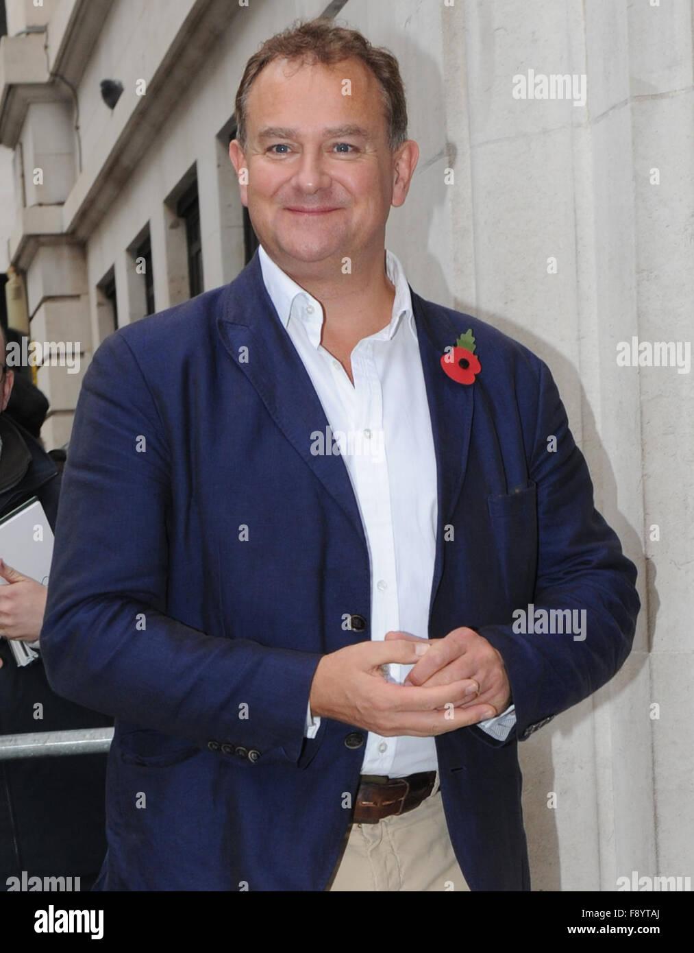 Hugh Bonneville at BBC Radio 2 studios in London  Featuring: Hugh Bonneville Where: London, United Kingdom When: - Stock Image